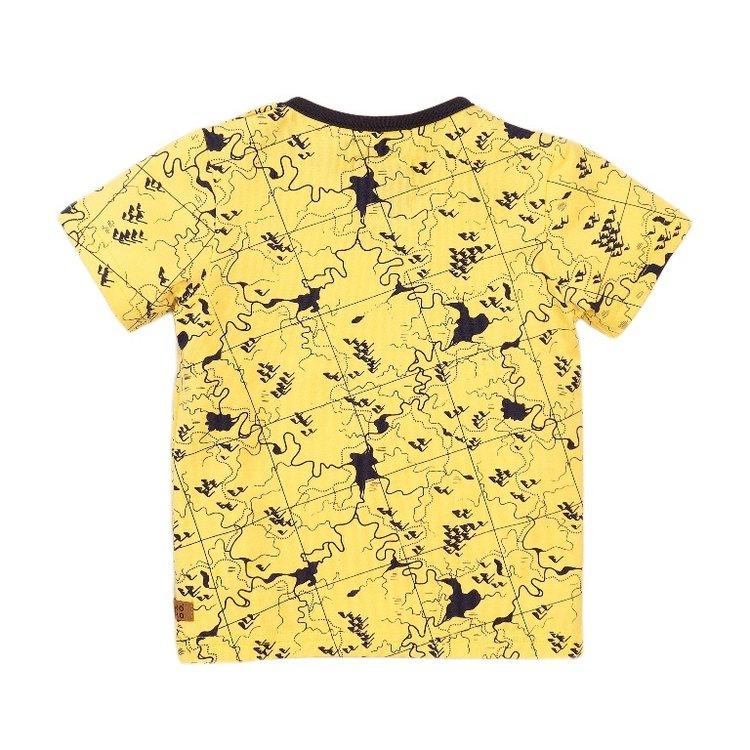 Koko Noko jongens T-shirt geel print   E38827-37