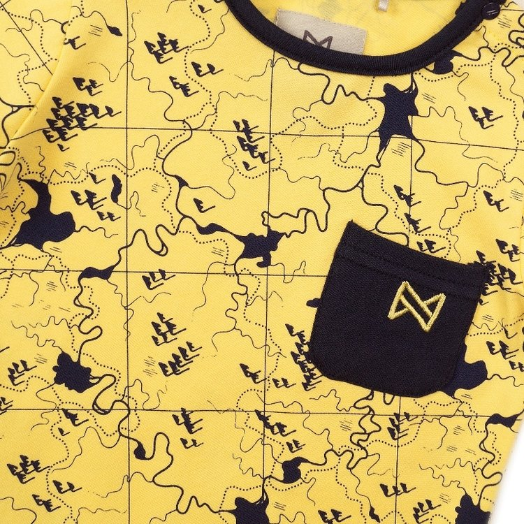 Koko Noko boys T-shirt yellow print   E38827-37
