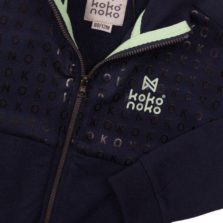 Koko Noko jongens vest navy | E38829-37