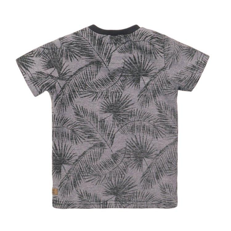 Koko Noko jongens T-shirt grijs print | E38834-37
