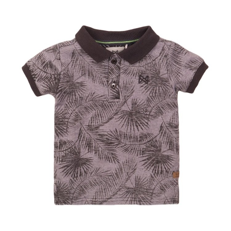 Koko Noko boys polo shirt grey print | E38838-37