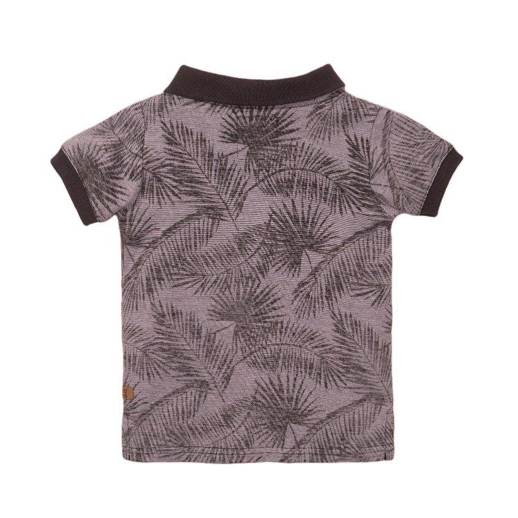 Koko Noko jongens poloshirt grijs print | E38838-37