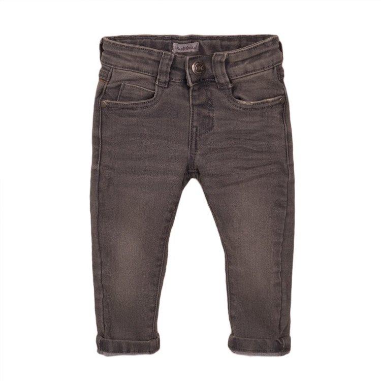Koko Noko jongens jeans grijs met logo label | E38842-37