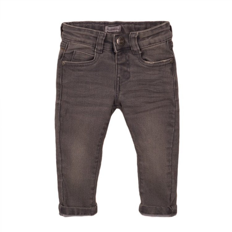 Koko Noko Jungen Jeans grau mit Logo-Etikett | E38842-37