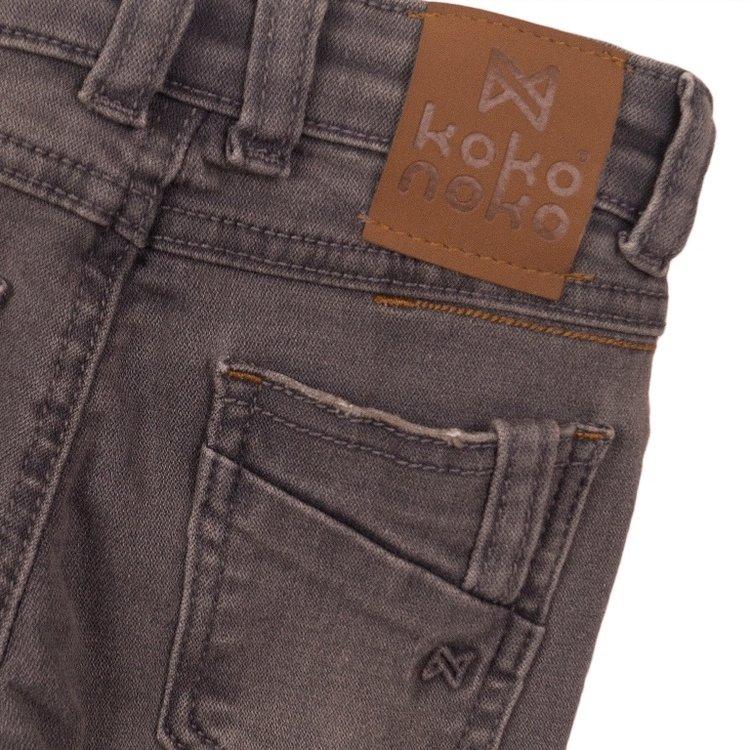 Koko Noko boys jeans grey with logo label | E38842-37