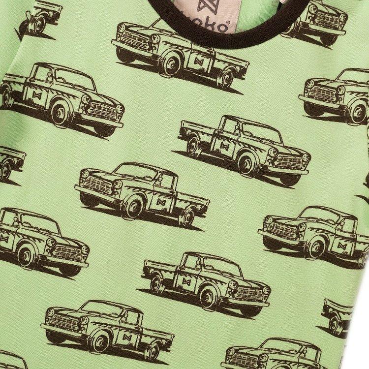 Koko Noko Jungen T-shirt grüner Druck | E38844-37