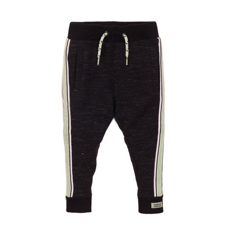 Koko Noko jongens joggingbroek zwart melée | E38845-37
