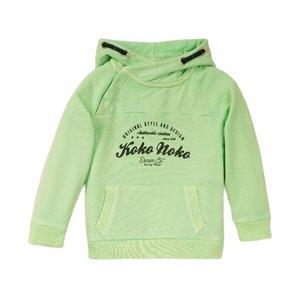 Koko Noko jongens sweater groen met capuchon
