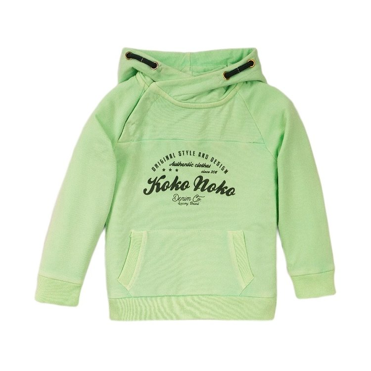 Koko Noko boys hooded sweatshirt green | E38846-37