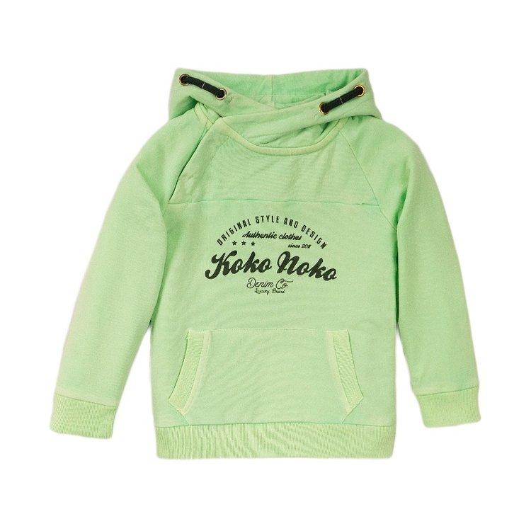 Koko Noko jongens sweater groen met capuchon   E38846-37
