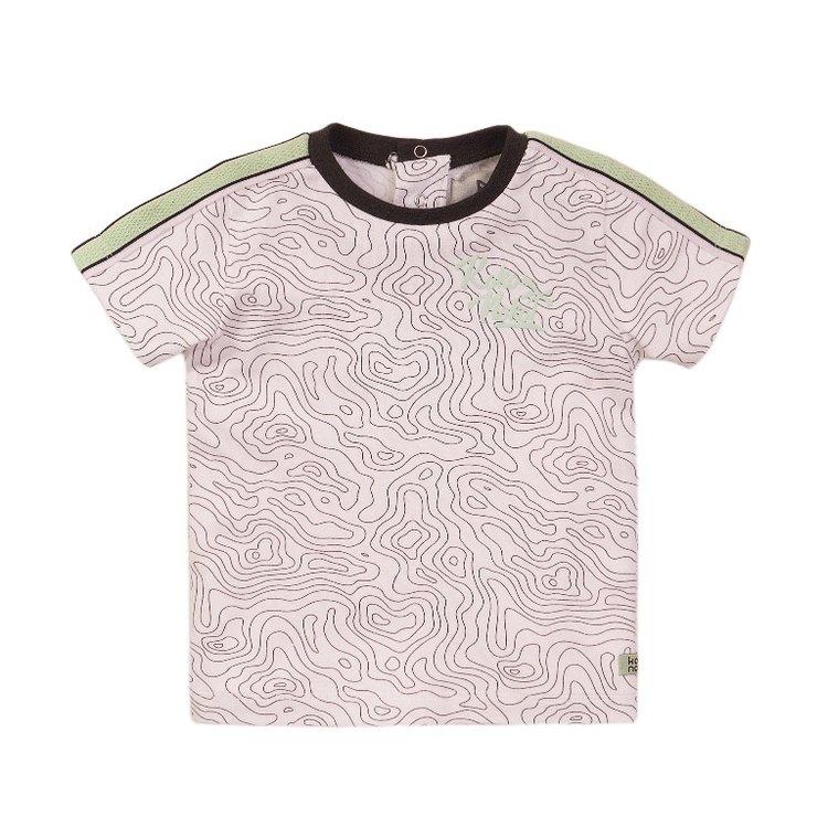 Koko Noko jongens T-shirt wit print | E38848-37