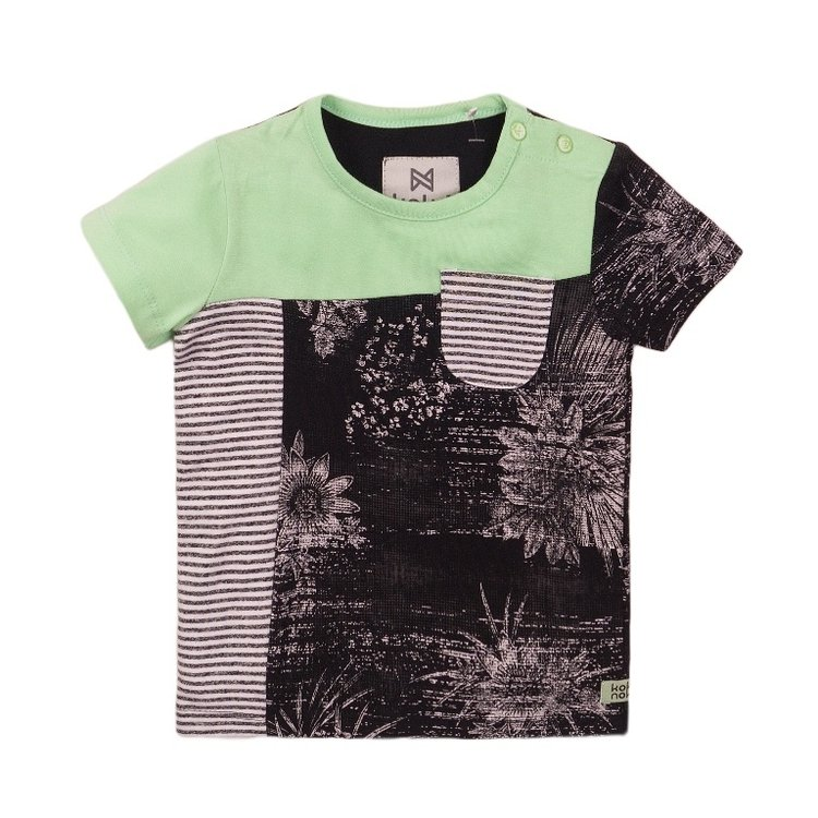 Koko Noko boys T-shirt green grey | E38850-37