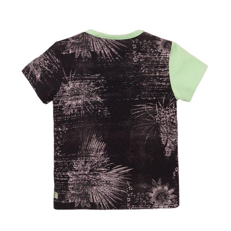 Koko Noko jongens T-shirt groen grijs | E38850-37