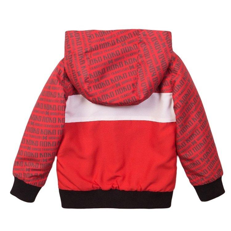 Koko Noko Jungen Jacke rot mit Kapuze   E38852-37