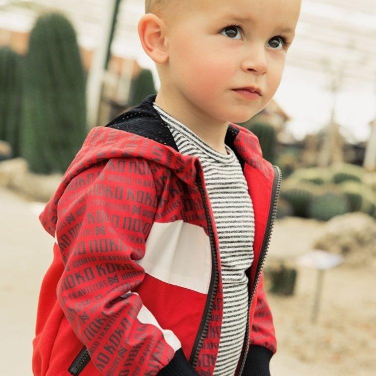 Koko Noko boys jacket red with hood | E38852-37