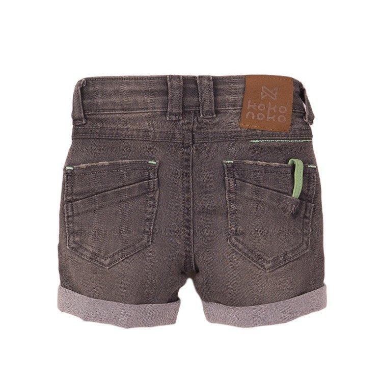 Koko Noko boys jeans short grey | E38854-37