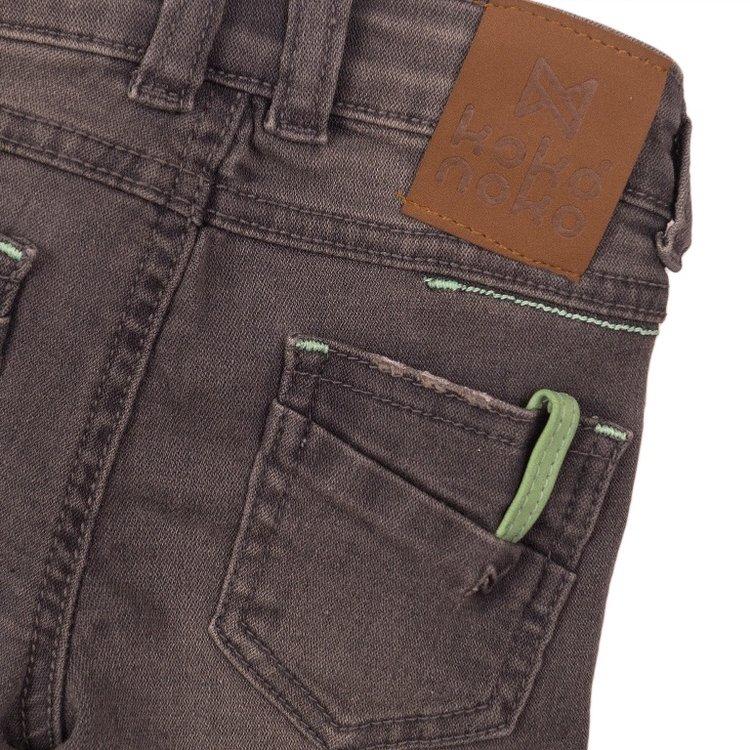 Koko Noko jongens jeans short grijs | E38854-37