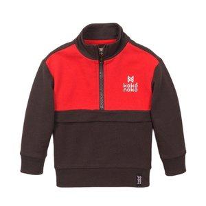 Koko Noko jongens sweater grijs rood