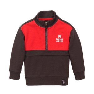 Koko Noko Jungen Pullover grau rot