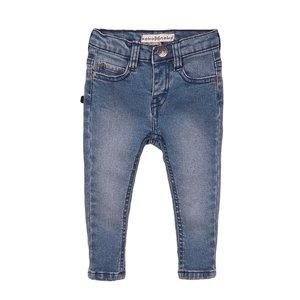 Koko Noko Mädchen Jeans blau mit rosa Etikett