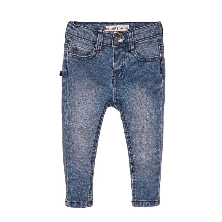 Koko Noko Mädchen Jeans blau mit rosa Etikett | E38938-37