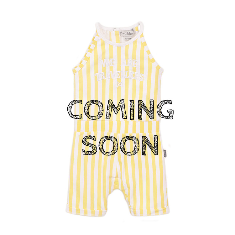 Koko Noko meisjes jumpsuit in geel wit | E38945-37