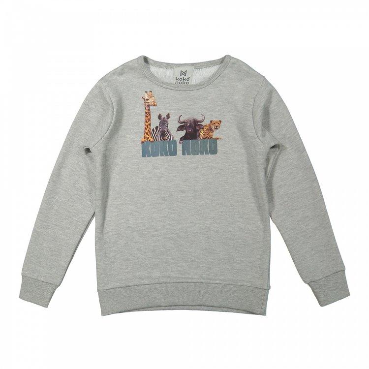 Koko Noko jongens trui grijs | X00029-37
