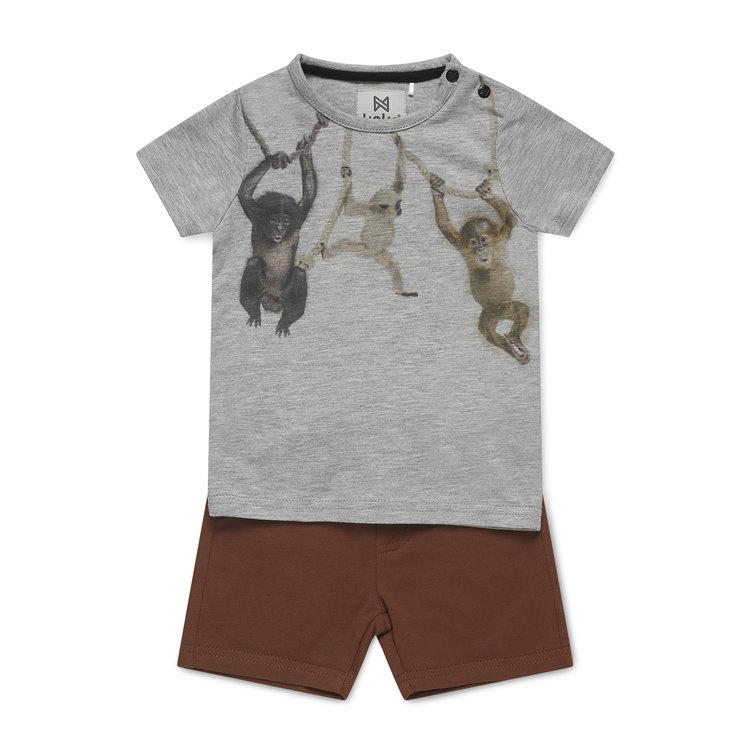 Koko Noko jongens 2-delige set T-shirt en short | E38885-37