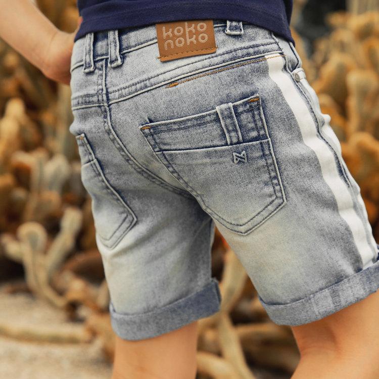 Koko Noko boys jeans short blue | E38818-37