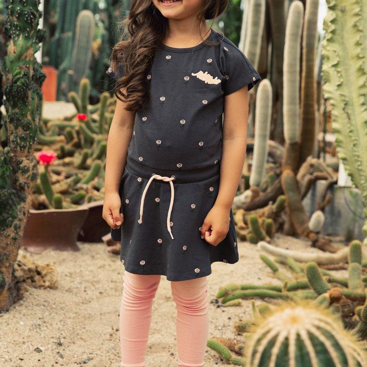 Koko Noko Mädchen Kleid dunkelgrau rosa | E38903-37