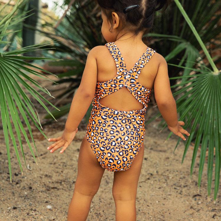 Koko Noko girls swimming costume orange | E38960-37