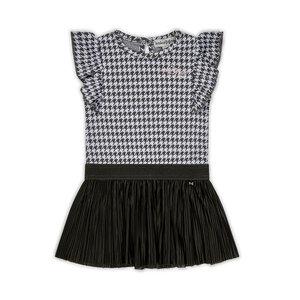 Koko Noko meisjes jurk pied-de-poule