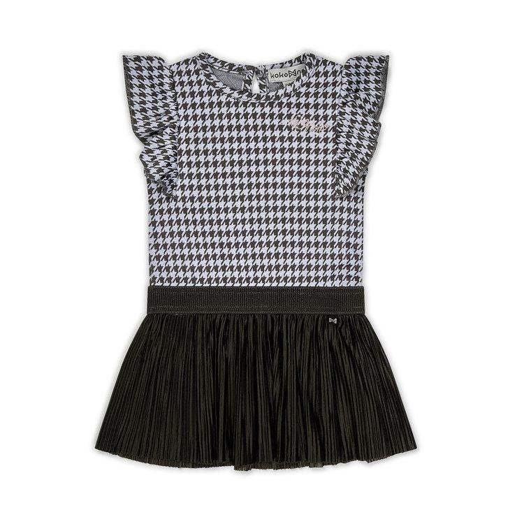 Koko Noko girls dress pied-de-poule | E38924-37