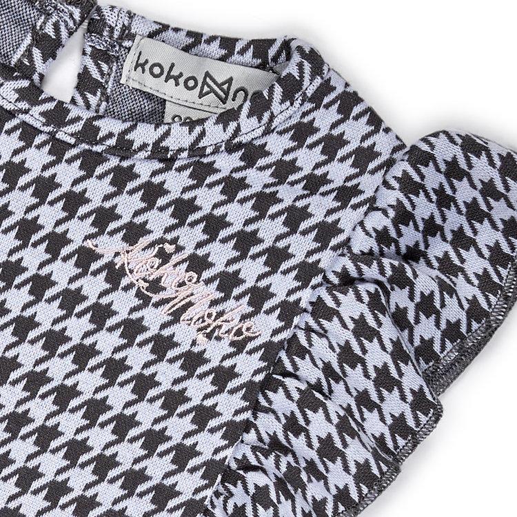 Koko Noko meisjes jurk pied-de-poule | E38924-37