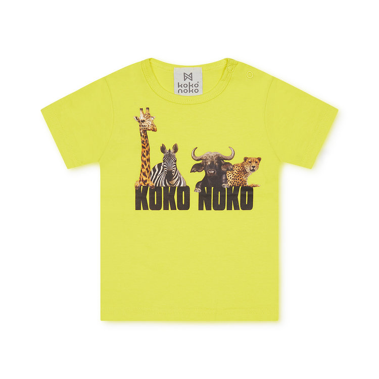 Koko Noko jongens T-shirt geel | X00014-37