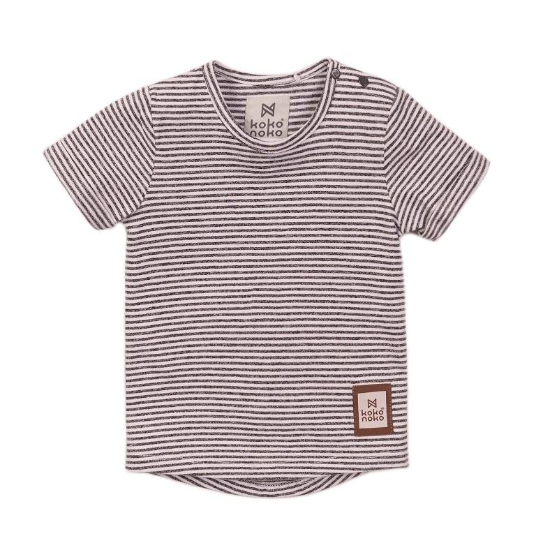 Koko Noko Koko Noko Jongens T-shirt  Streep Grijs, Wit