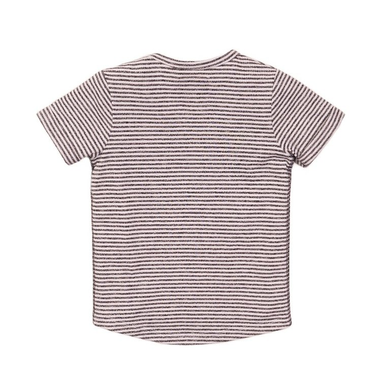 Koko Noko jongens T-shirt grijs streep   E38840-37