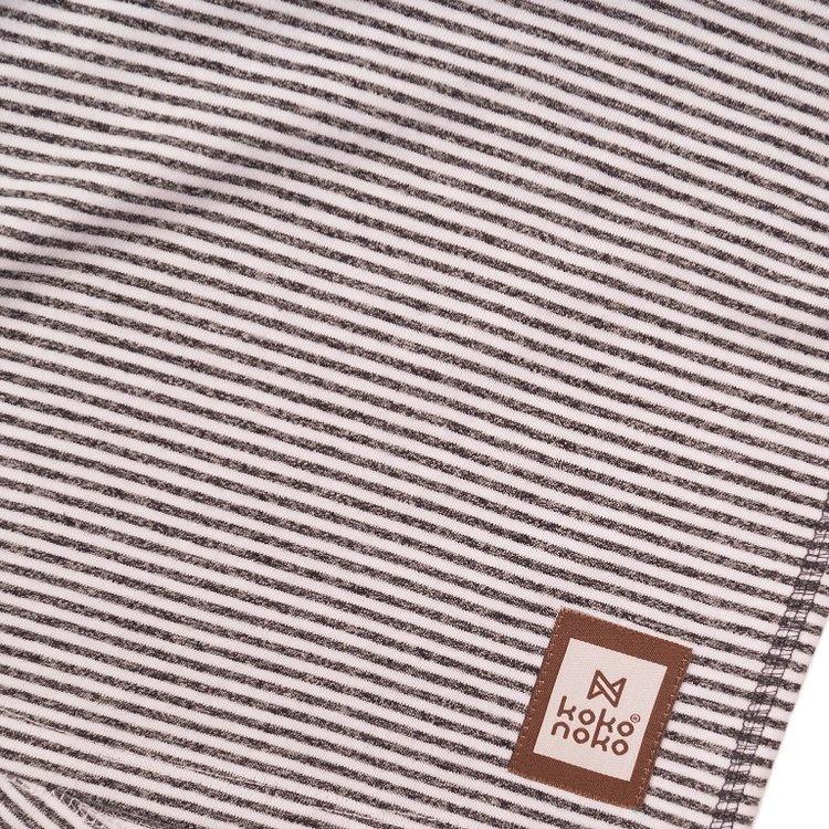 Koko Noko Jungen T-shirt grau gestreift | E38840-37