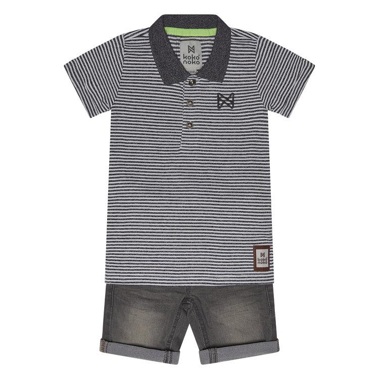 Koko Noko Jungen 2-teiliges Set Poloshirt und Shorts | E3888384-37