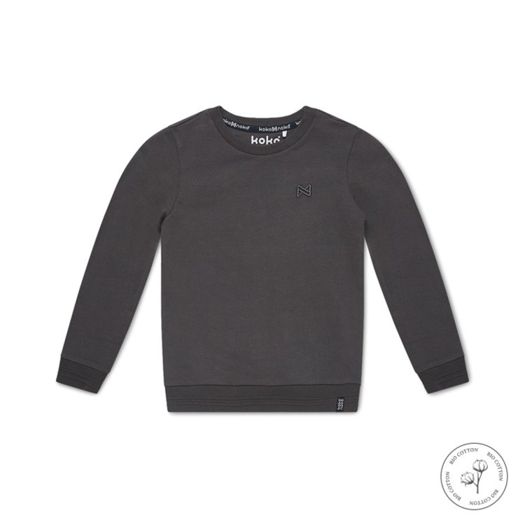 Koko Noko jongens sweater Neill grijs | N801