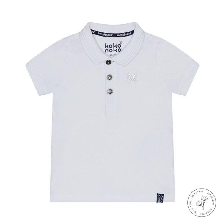 Koko Noko Poloshirt Noah für Jungen weiß | N810