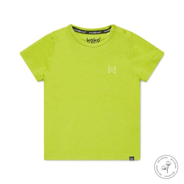 Koko Noko jongens T-shirt Nigel neon geel   N815