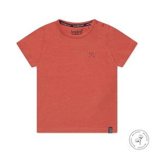Koko Noko jongens T-shirt Nigel oranjerood