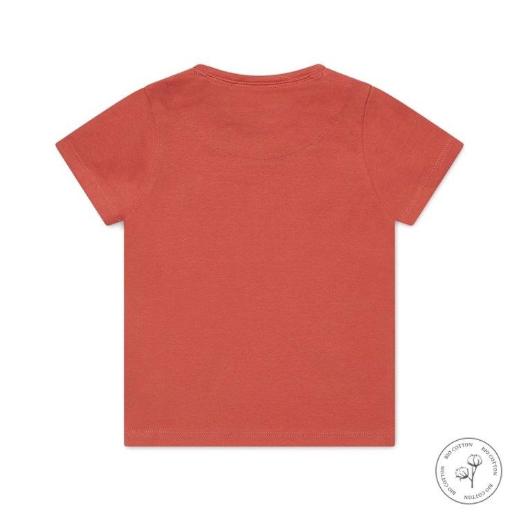 Koko Noko jongens T-shirt Nigel oranjerood   N816