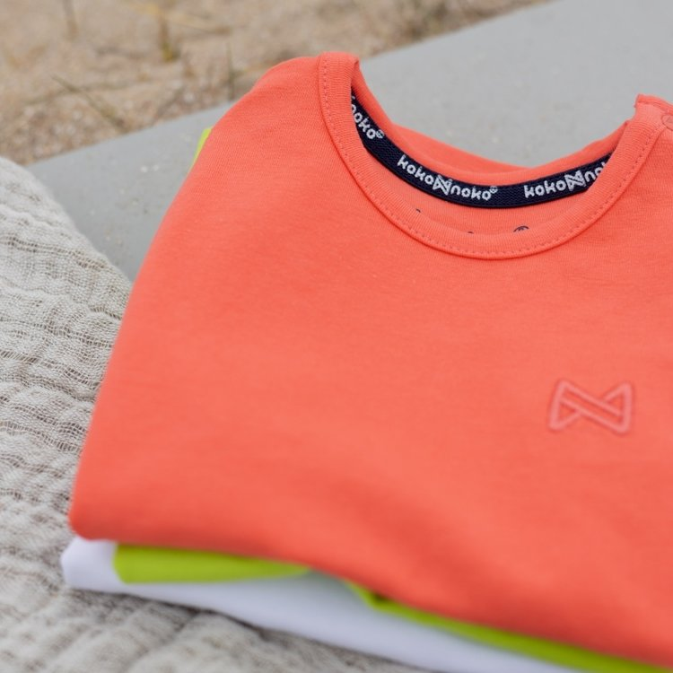 Koko Noko boys T-shirt Nigel neon coral | N816