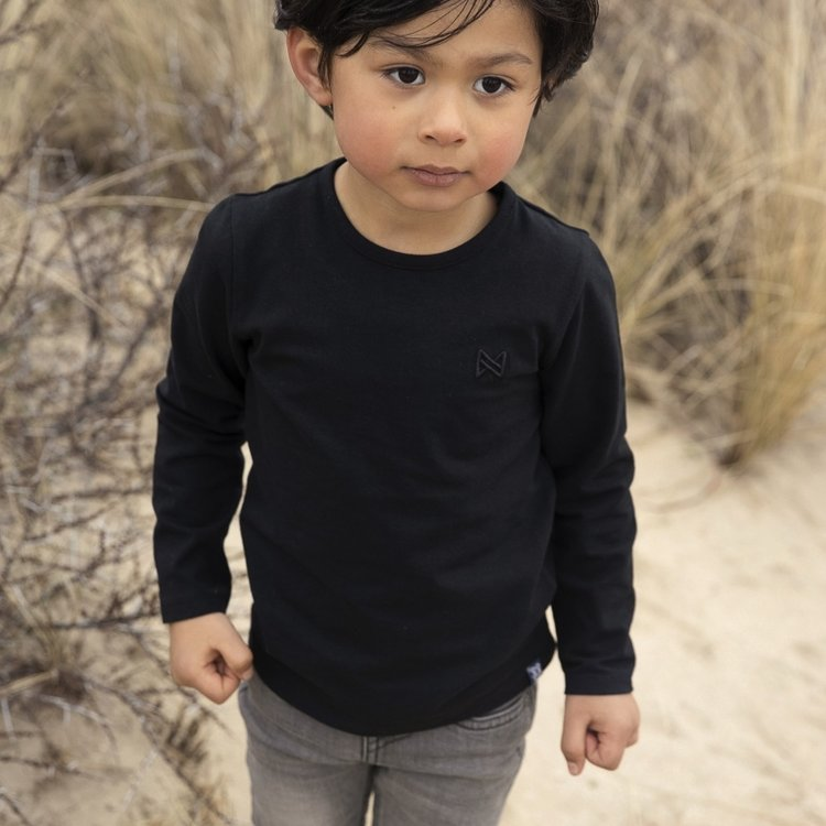 Koko Noko jongens shirt Nate zwart | N819