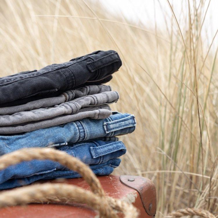 Koko Noko jongens jeans Novan knit blauw | N824