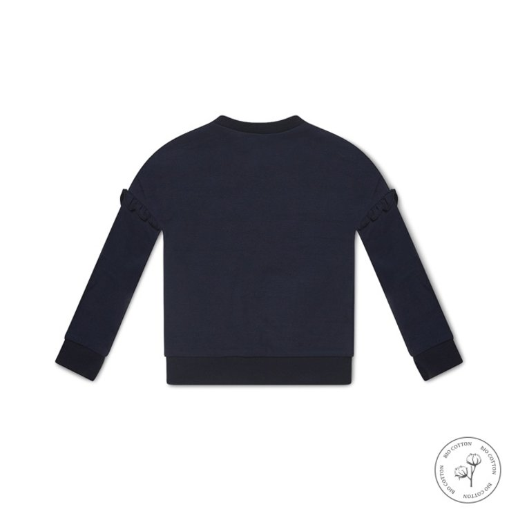 Koko Noko meisjes sweater Nova donkerblauw   N900