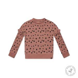 Koko Noko meisjes sweater Nova oudroze stippen