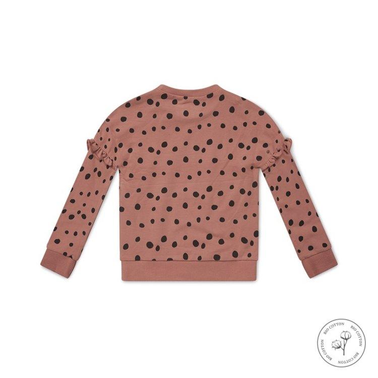 Koko Noko meisjes sweater Nova oudroze stippen   N902